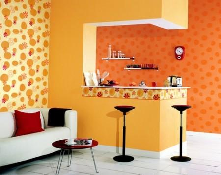 حوائط باللون البرتقالي