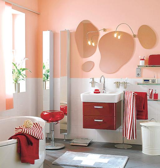 ديكورات حمامات صغيرة المساحة 2014 ميكساتك