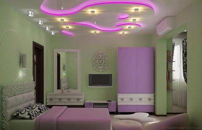 الوان حوائط غرف نوم موف