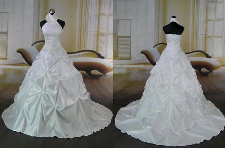 فساتين زفاف علي الرقبة