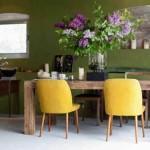 غرف سفرة خضراء من دهانات سكيب