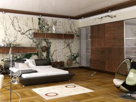 غرف نوم ورق حائط