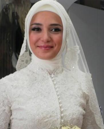 لفات طرح زفاف مميزة