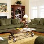 غرف جلوس خضراء