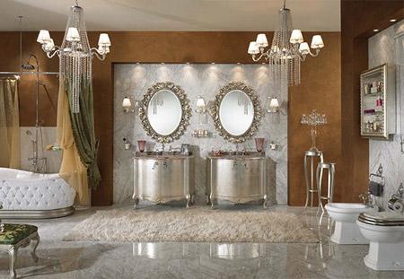 تصاميم حمامات بني