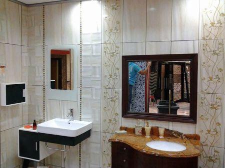 تصميمات حمامات باللون الأبيض (2)