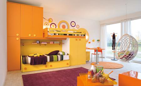 دهانات غرف نوم اطفال برتقالي