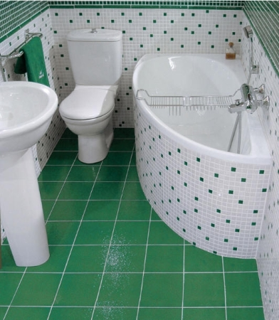 ديكورات حمامات صغيرة أخضر