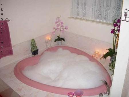 صور تصاميم حمامات بانيو روز