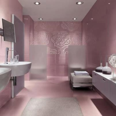 صور تصاميم حمامات وردي