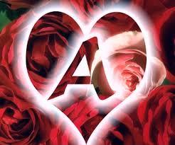 صور حرف A قلب