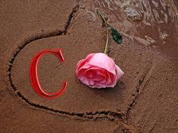 صور حرف c ووردة