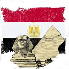 علم مصر واهرامات وابوهول
