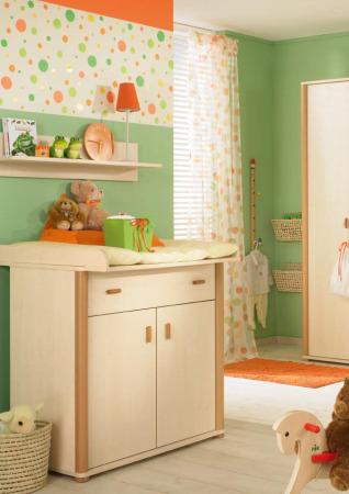 غرف نوم اطفال اخضر (2)