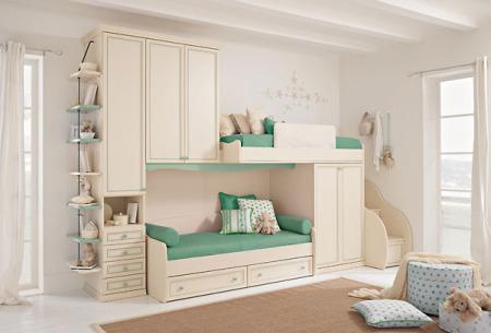 غرف نوم اطفال باللون الأبيض