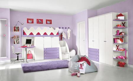 غرف نوم اطفال بنفسجي (2)