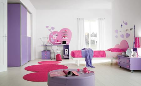 غرف نوم اطفال بنفسجي (3)