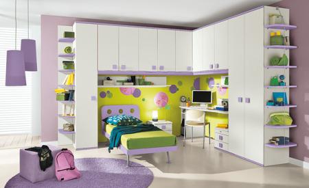 غرف نوم اطفال بنفسجي (4)