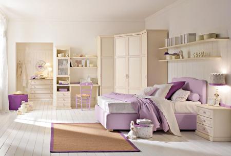 غرف نوم اطفال بنفسجي