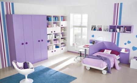 غرف نوم اطفال بنفسج