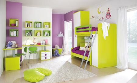 غرف نوم اطفال خضرا