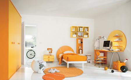 غرف نوم برتقالي