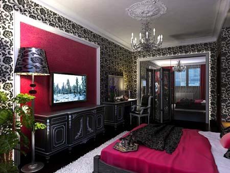 غرف نوم عرسان حمرا