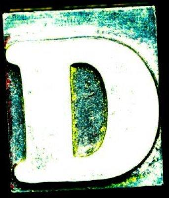 حرف d بالانجليزي