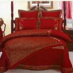 صور مفارش السرير حمرا