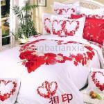 صور مفارش السرير قلوب