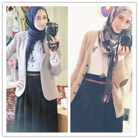 d3946e19a اجمل ملابس محجبات 2015 للشتاء ازرق احدث ملابس محجبات 2015 للشتاء