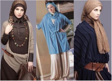 c787739b2 احدث ملابس محجبات 2015 للشتاء ارقي ملابس شتاء محجبات