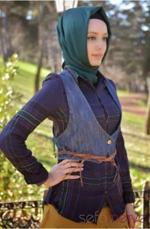 اشيك ملابس محجبات 2015 للشتاء