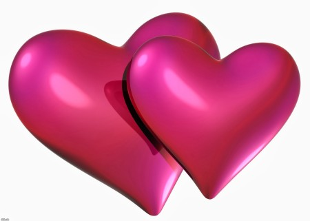 صور قلوب فوشيا
