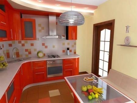 مطبخ احمر