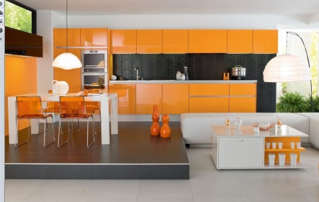 مطبخ برتقالي