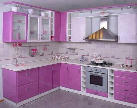 مطبخ بنفسجي