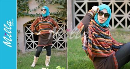 ملابس ميلا فاشون للمحجبات شتاء 2015 (7)