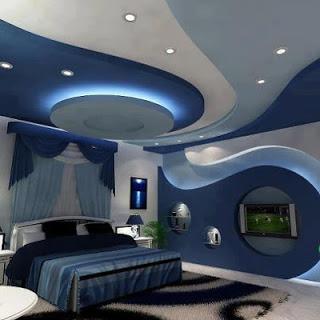 ديكورات شقق غرف ازرق
