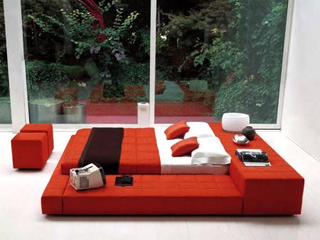 غرف نوم احمر