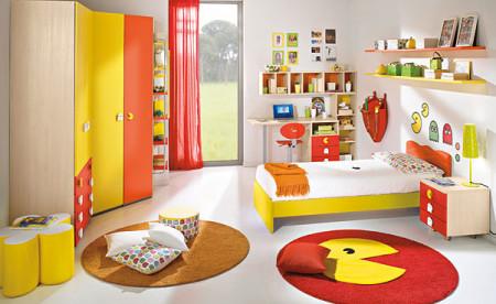 غرف نوم اطفال باللون الاصفر