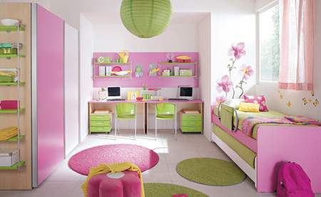 غرف نوم اطفال وردي