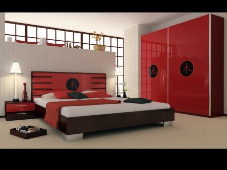 غرف نوم باللون الاحمر شيك