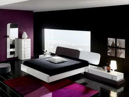غرف نوم باللون البنفسجي