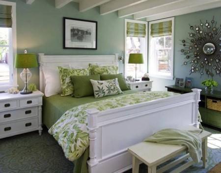 غرف نوم خضراء