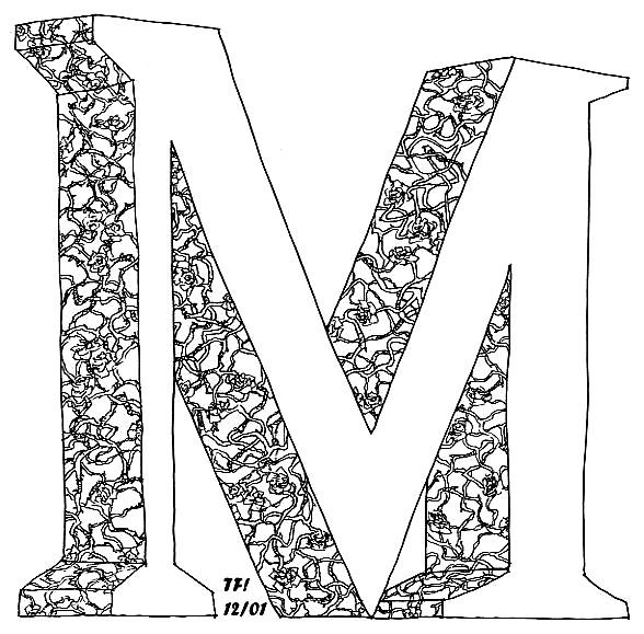 صور حرف M ام بالانجليزي ميكساتك