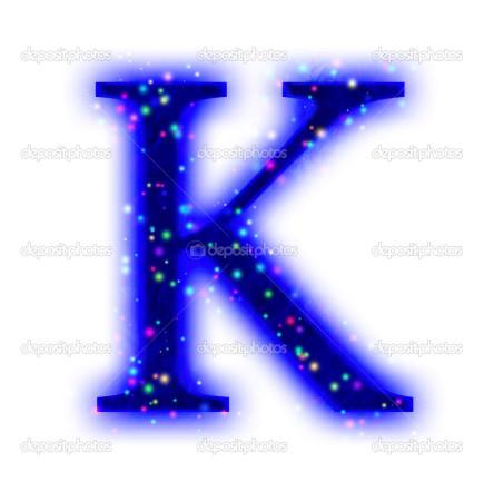 christmas font - letter K