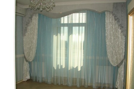 صور ستائر غرف نوم باللون النيلي