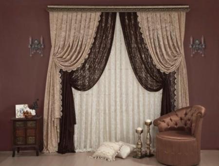 صور ستائر غرف نوم بنيه