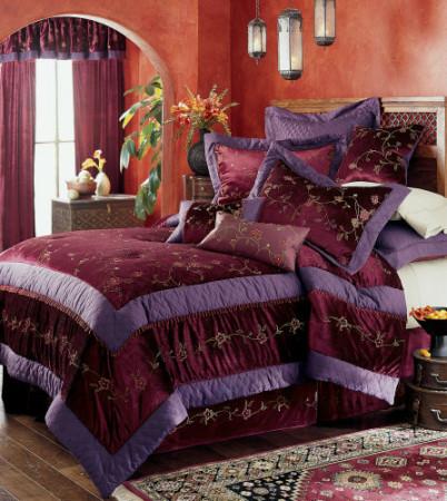 مفارش سرير باللون البنفسجي